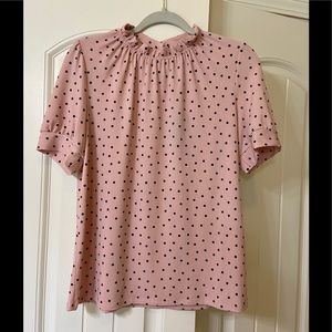 NWT pink with black polka dot top